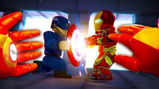 REALISTIC ROBLOX - IRON MAN vs CAPTAIN AMERICA! 💥