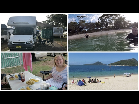 The cold waters of Shoal Bay - 25th - 29th Jan, 2017 :  Motorhome Adventure