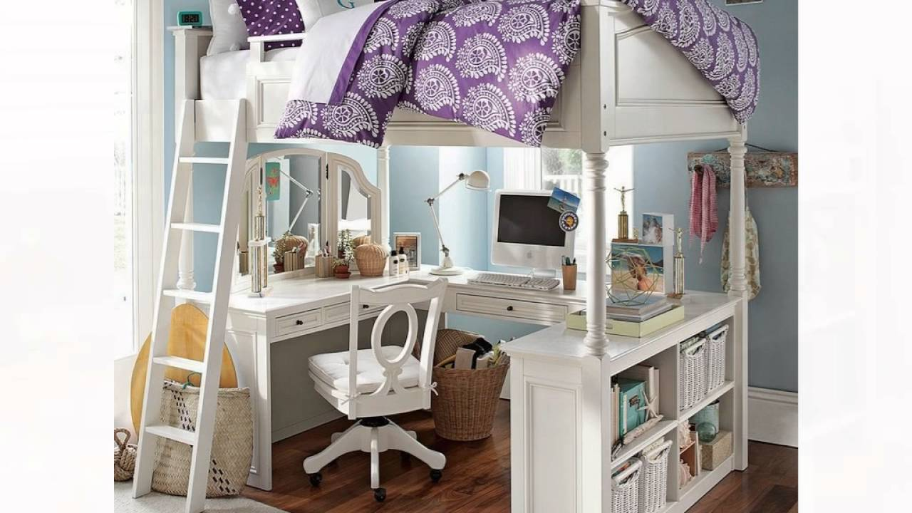 Design Loft Beds With Desk For Girls girl loft bed with desk youtube