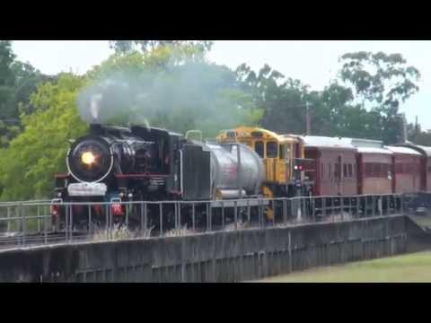 AC16 221A - QR 150th Steam Train - Brisbane to Toowoomba - 28/05/2015