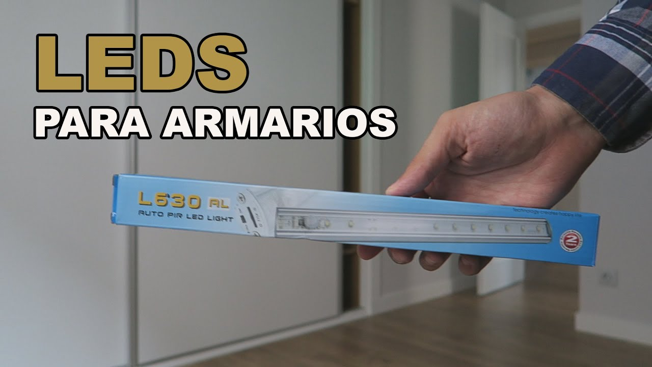 Luces LED con sensores de movimiento para tu armario - YouTube