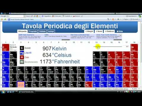 Tavola periodica degli elementi youtube for Ptable interactive