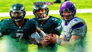 Taking a Look Back at Madden NFL 10 Gameplay in 2018!! Action Packed QB Gameplay Vick, Farve, McNabb