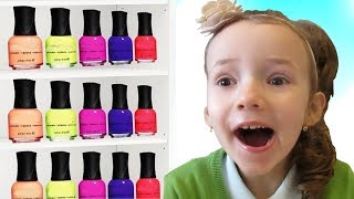 Ulyana pretend play with magic nail polish colors by UT kids