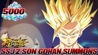 5000 Zeitkristalle SSJ2 Son Gohan Summons Opening! :D HYPE!!! | Dragon Ball Legends Deutsch