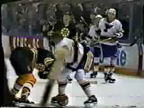 Cam Neely vs Glen Featherstone Feb 23, 1991