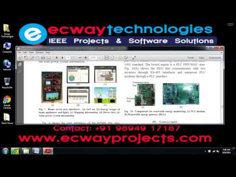 Smart home energy management system including renewable energy based on ZigBee and PLC