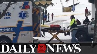 Ski lift malfunctions, chairs slam into each other thumbnail