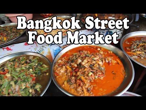Bangkok Street Food Market. Thai Street Food in Klong Toey, Bangkok, Thailand