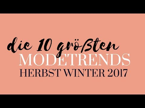 Fall Trends 2017  Top 10 Fashion Trends For Autumn Winter