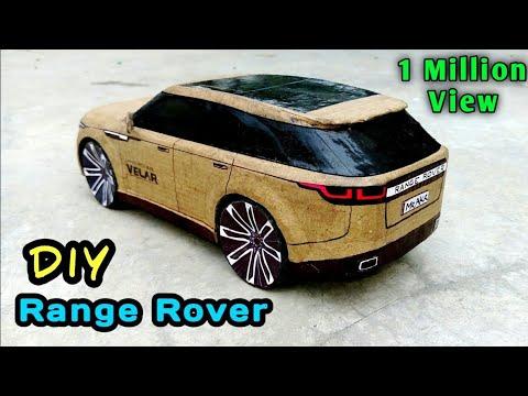 How To Make A Car | Range Rover Velar | Cardboard Craft RC Car | DIY Rc Toy