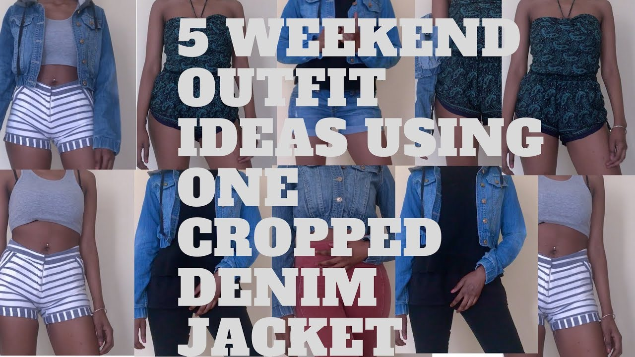 5 outfit ideas for the weekend using a cropped denim jacket 3