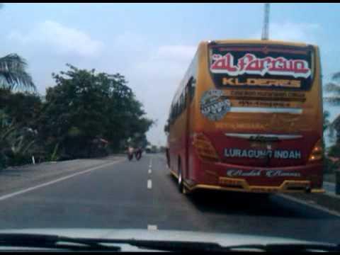 Bus ALFARRUQ titan gempur pantura dengan telolet