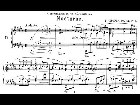 Chopin: Nocturne Op.62 No.1 in B Major (Moravec)