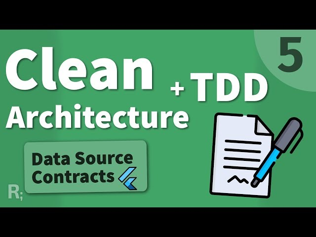 Flutter TDD Clean Architecture Course [5] – Contracts of Data Sources