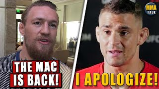 Conor McGregor REACTS after his fight with Poirier is made official, Dustin apologizes to Conor,Yan