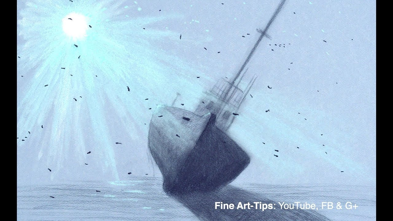 How to Draw an Underwater Shipwreck With Pastels - Narrated