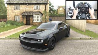 Forza Horizon 4 Dodge Demon vs Police Chase (Thrustmaster Steering Wheel) Gameplay