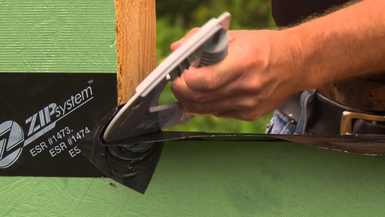 ZIP System Sheathing: Flashing Windows With ZIP System Tape   YouTube