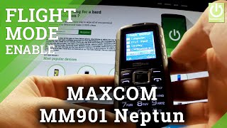 Flight Mode MAXCOM MM901 Neptun - Airplane Mode Tutorial