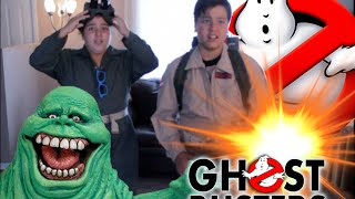 RageOn! Ghostbusters Jr 2016 reboot DIY home made kids Slimer Canada Cazafantasmas