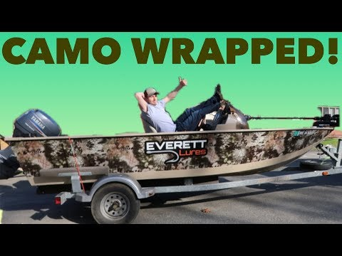 HOW TO WRAP A BOAT - CAMO!!