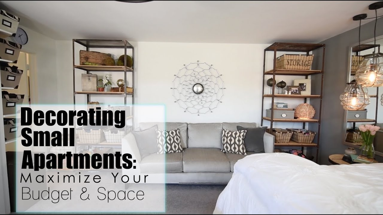 maximize your space budget in small apartments interior design youtube - Small Apartment Bedroom Decorating Ideas