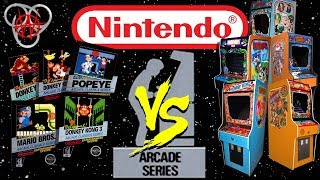 Nintendo NES Arcade Series Vs. The Original Arcades - Donkey Kong 1, Jr. & 3, Popeye & Mario Bros.