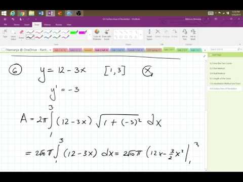 Nik's Live Calculus Stream (Calc2 6.6 Surface Area of Revolution)