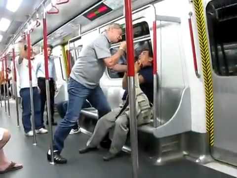 German vs.Cantonese Fight in the Metro