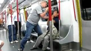 german vs cantonese fight in the metro