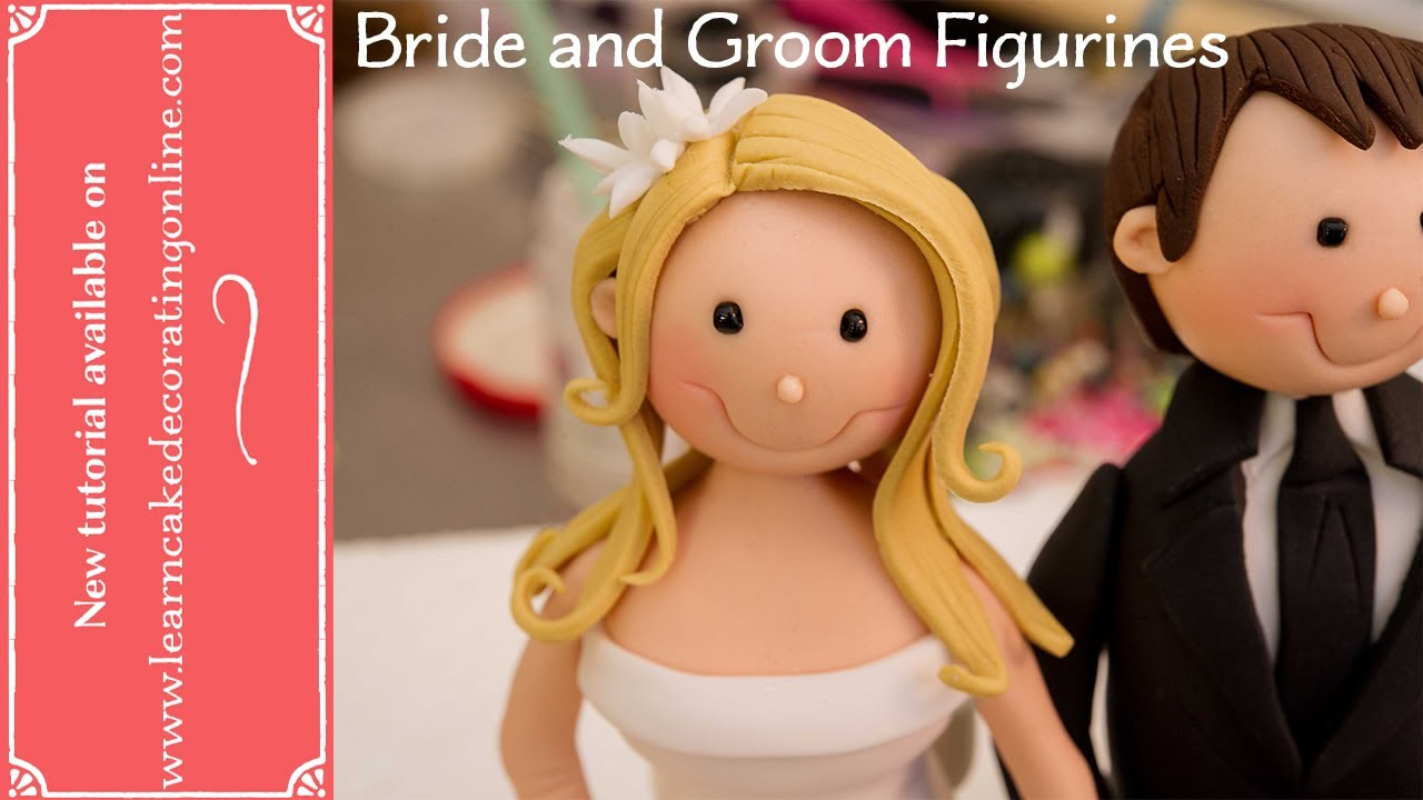 making wedding cake toppers fondant how to make and groom cake toppers 17080