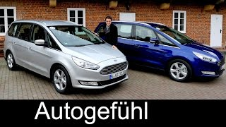 All-new Ford Galaxy FULL REVIEW vs Ford S-MAX comparison test driven 3rd generation 2016