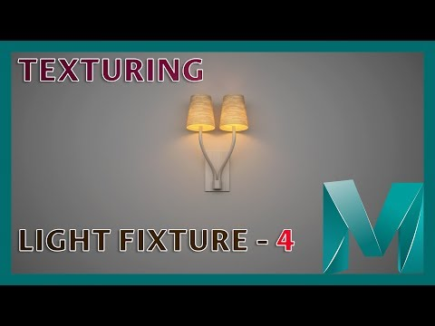 UV Mapping and Texturing a Light Fixture - 4 || Autodesk Maya 2018 Tutorials
