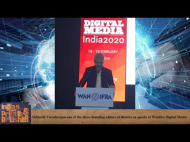 "Varadarjan says, ""Journalism is about caring."