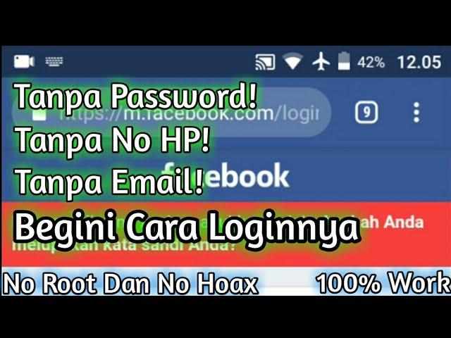 Cara Login Facebook Yang Lupa Kata Sandi Dan Nomor Telepon Atau Email Sudah Tidak Aktif Lagi Youtube