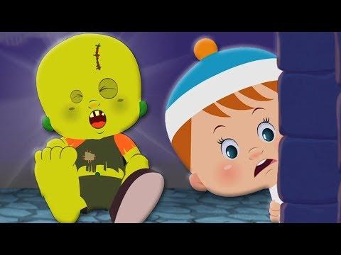 kartun halloween inggris lagu zombie menakutkan One Little Zombie Halloween Song in English