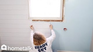How to DIY a High-end Bedroom Accent Wall With Cheap Wallpaper from Target