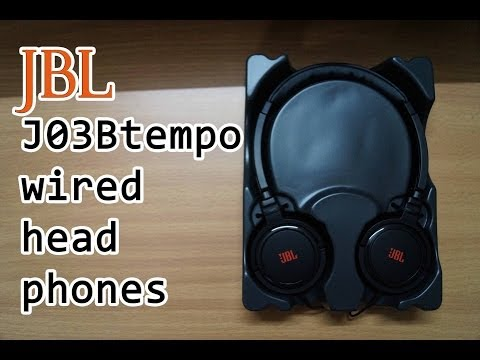 JBL J03B tempo wired headphones Unboxing and first Impressions.
