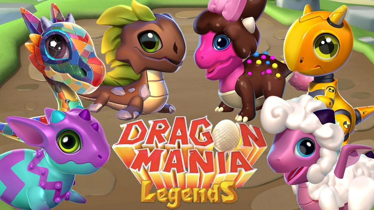 Dragon Legends: 6 NEW UPDATE 18 DRAGONS! Mosaic, Painted, Chocolate