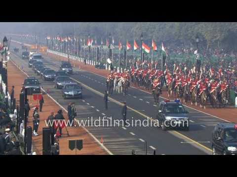 Prime Minister Narendra Modi arrives in cavalcade for Republic Day 2017 : Dress Rehearsal