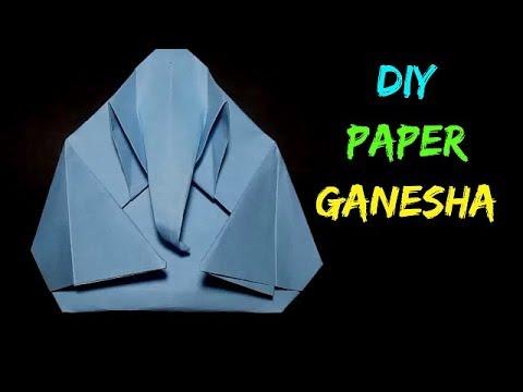 Paper Ganesh - Origami Paper Ganesh Hindu God Ganesh