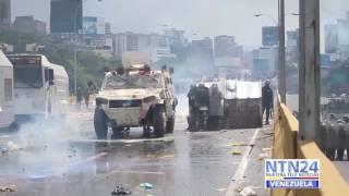 Parte de la represión al pueblo venezolano este miércoles #10Mayo