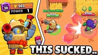LEVEL 1 DARRYL GETS 500 TROPHIES FROM SHOWDOWN IN BRAWL STARS!