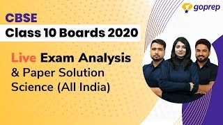 CBSE Class 10 Science Question Paper 2020 Paper Solution | Analysis & Difficulty Level (All India)