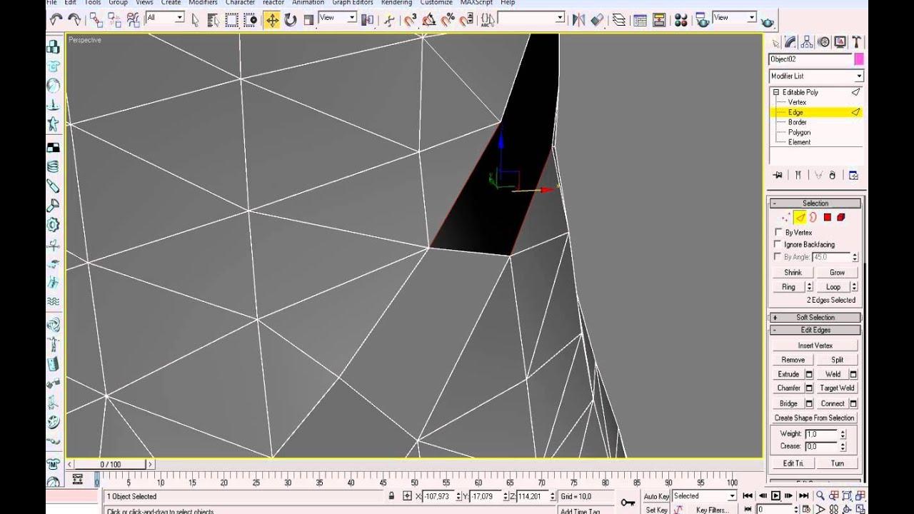 3d max дырка в полигоне