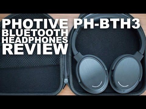 1ac91e44ea6 Photive BTH3 Bluetooth Headphones Review - YouTube