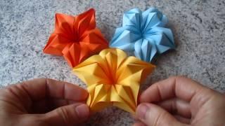 Blumen aus Papier / Notizzettel selber falten
