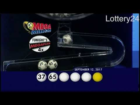2017 09 12 Mega Millions Numbers and draw results