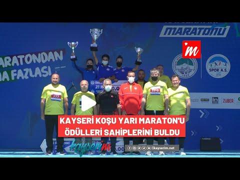 Kayseri Koşu Yarı Maraton'u Ödülleri Sahiplerini Buldu